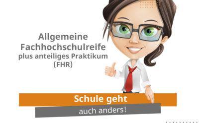 Erklärvideo zum Bildungsgang Allgemeine Fachhochschulreife plus anteiliges Praktikum (FHR)