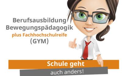 Erklärvideo zum Bildungsgang Berufsausbildung Bewegungspädagogik plus Fachhochschulreife (GYM)